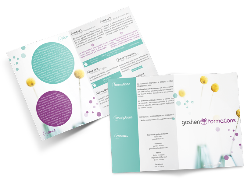 Conception et impression de brochure