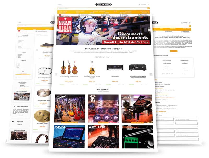 Plateforme e-commerce pour Boullard Musique